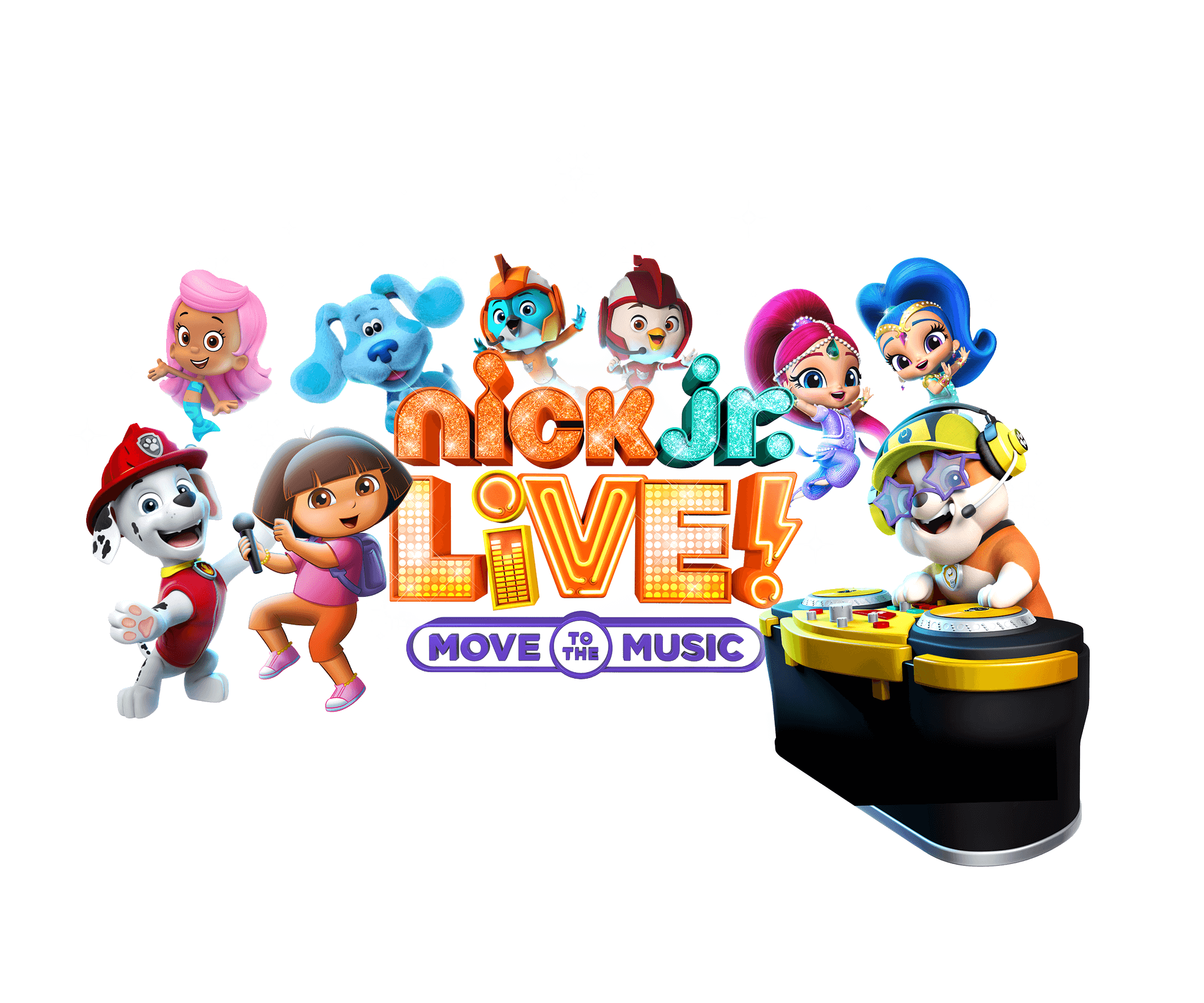 Nick jr. live! Move to the music.