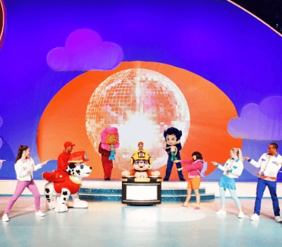 NickJrLive cast of characters on stage